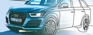 Раскраска Audi Q7 2014