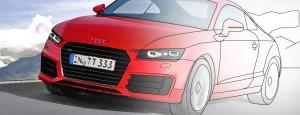 Раскраска Audi TT 2014