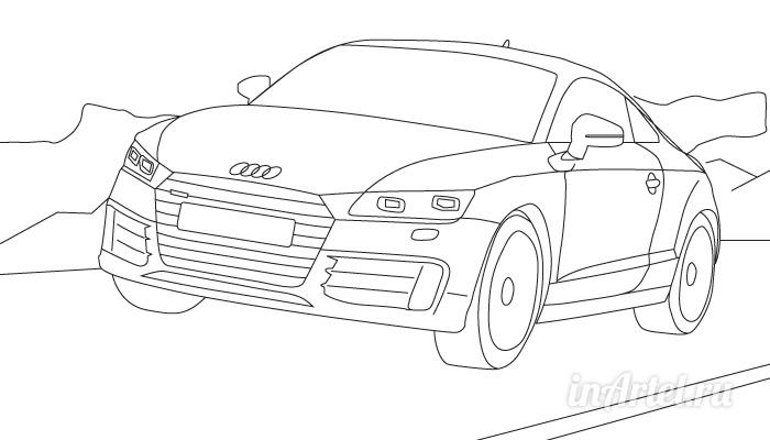 Audi ее раскраска