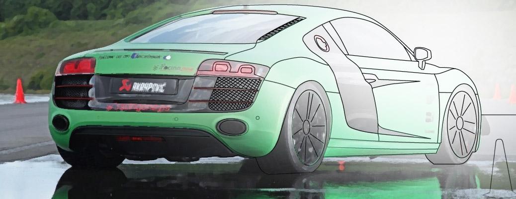 Раскраска Audi R8 v10
