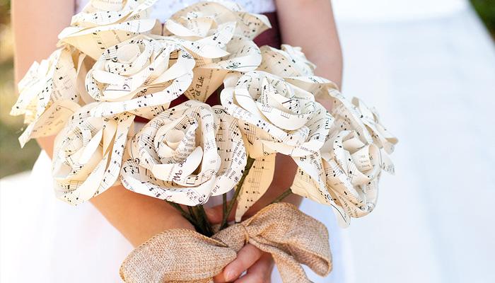Букет невесты из нот