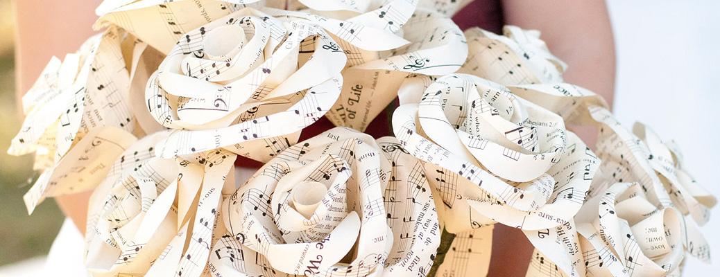 А что, если сделать букет невесты из бумаги?