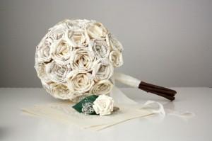 Букет невесты из бумаги
