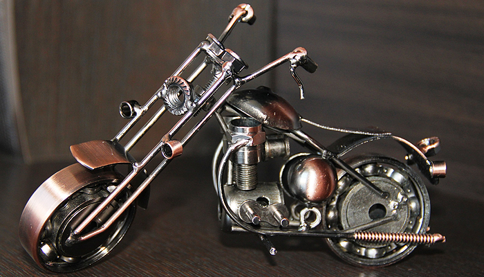 Модель мотоцикла. Ручная работа