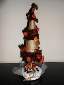 рождественская елка из кофе своими руками