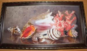 Картина из бисера Морские сокровища
