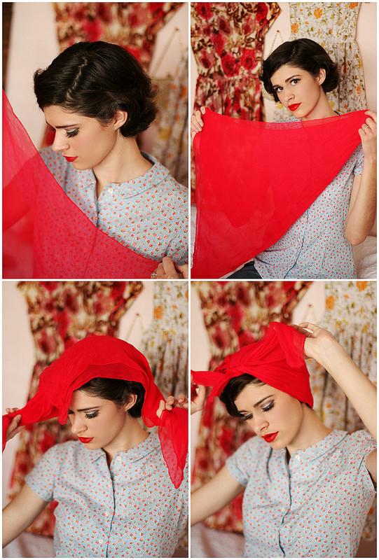 как правильно повязать платок
