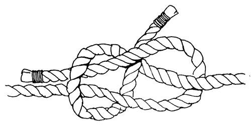 как завязать шкотовый узел