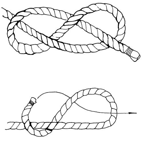 как завязать узел восьмерку