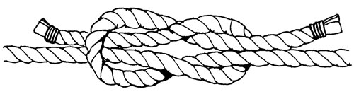как завязывать рифовый узел