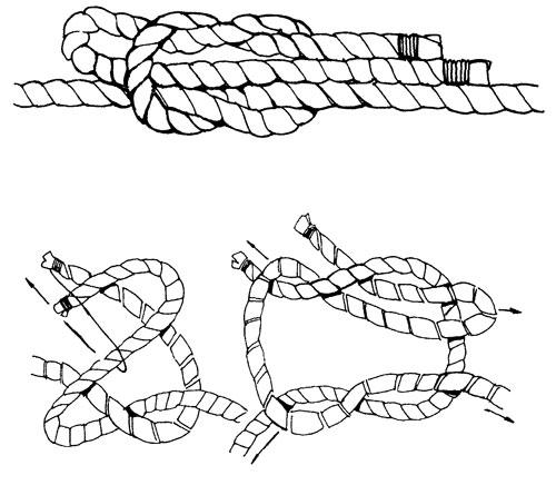 как завязывать скользящий рифовый узел